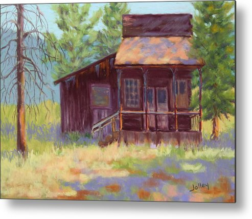 Building Metal Print featuring the painting Old Mining Store by Nancy Jolley