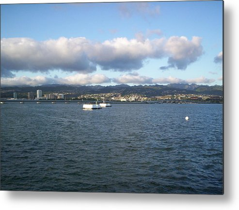 Pearl Harbor Metal Print featuring the photograph Pearl Harbor by Debra Barrie
