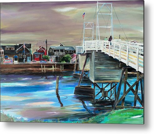 Perkin's Cove Metal Print featuring the painting Perkins Cove Maine by Scott Nelson
