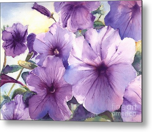Purple Metal Print featuring the painting Purple Profusion by Patricia Henderson