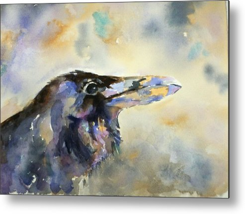 Raven Metal Print featuring the painting Raven I by Pat Butera