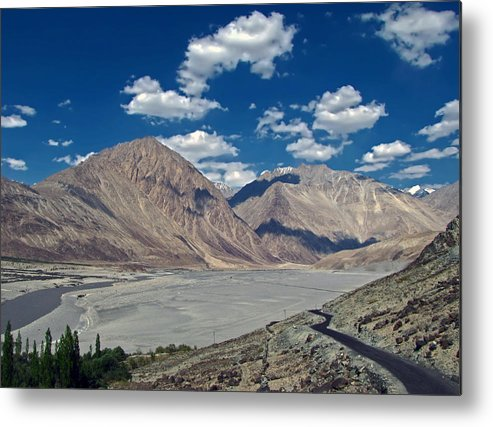 Nubra Metal Print featuring the photograph Road To Nubra Valley by Lalam Mandavkar
