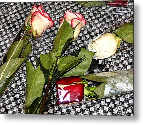 Rebecca Dru Photography Metal Print featuring the photograph Roses From Rosa... by Rebecca Dru