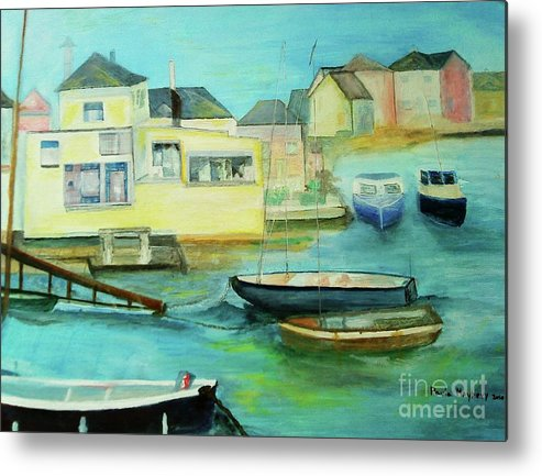 River Colne Metal Print featuring the painting Rowhedge by Paula Maybery