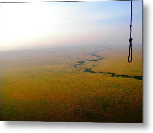 Hot Air Balloon Ride Metal Print featuring the photograph Safety Rope by Snow Piccolo