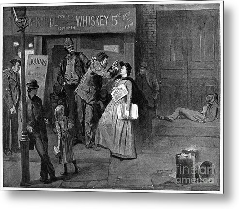 1894 Metal Print featuring the photograph Salvation Army In Slums by Granger