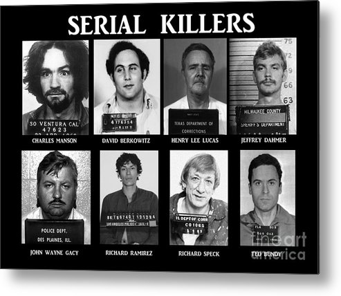 Paul Ward Metal Print featuring the photograph Serial Killers - Public Enemies by Paul Ward