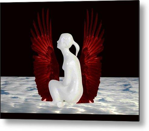 Heaven Metal Print featuring the digital art Simple Heaven by Darryl Kravitz