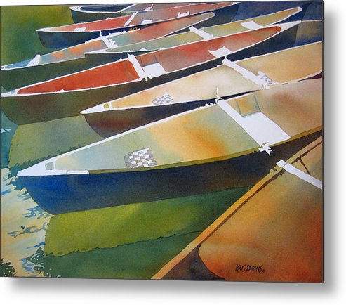 Kris Parins Metal Print featuring the painting Slices by Kris Parins