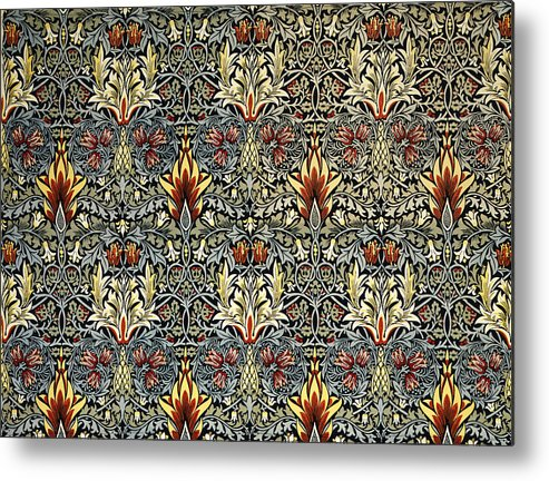 William Metal Print featuring the tapestry - textile Snakeshead by William Morris