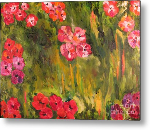 Flowers Metal Print featuring the painting So Limited An Infinity by Ivette Porteny
