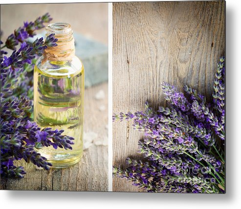 Aroma Metal Print featuring the photograph Spa With Lavender by Mythja Photography