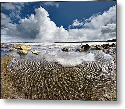 Landscape Metal Print featuring the photograph Spring Time12 by Vladimir Kholostykh