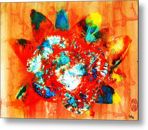 Abstract Metal Print featuring the painting Starburst Nebula by Roberto Prusso