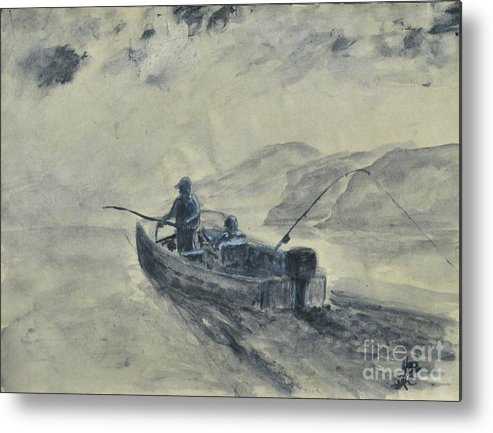 Outdoors Metal Print featuring the painting Study For Early Morning Blue Mesa by Dana Carroll