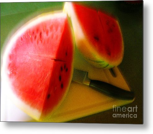 Watermelon Metal Print featuring the photograph Summertime And The Living Is Easy by James Temple