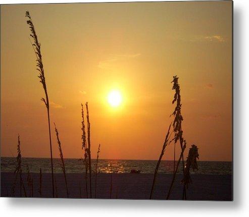 Ocean Metal Print featuring the photograph Sun Over The Ocean by Cynthia Guinn