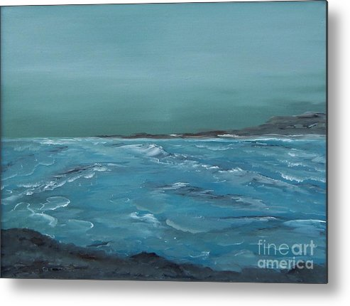 Waves Metal Print featuring the painting The Calm Before by Geralyn Willingham