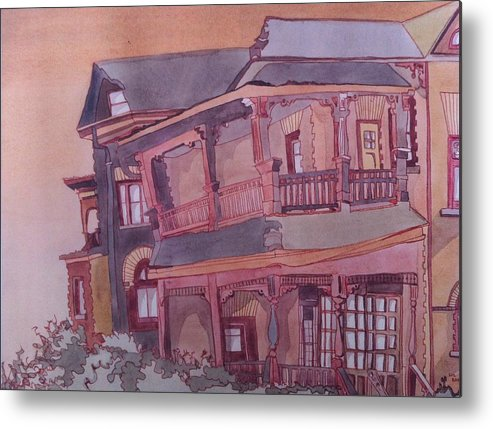 Landscape Metal Print featuring the painting The Homestead by Elizabeth Kayler