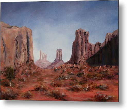 Arizona Metal Print featuring the painting The Window by Thomas Restifo