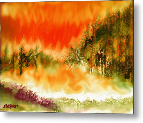 Timber Blaze Metal Print featuring the mixed media Timber Blaze by Seth Weaver