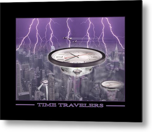 Cityscape Metal Print featuring the photograph Time Travelers by Mike McGlothlen