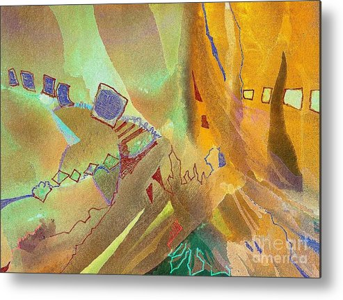 Card Metal Print featuring the painting Transformed by Donna Acheson-Juillet