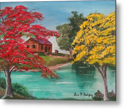 Flamboyan Metal Print featuring the painting Tropical Lifestyle by Luis F Rodriguez