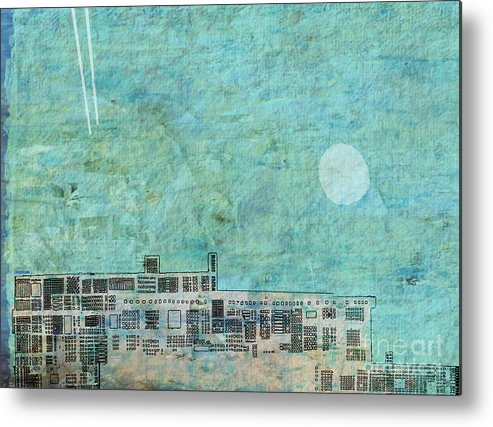 Contemporary Landscape Metal Print featuring the digital art Urbanization by Andy Mercer