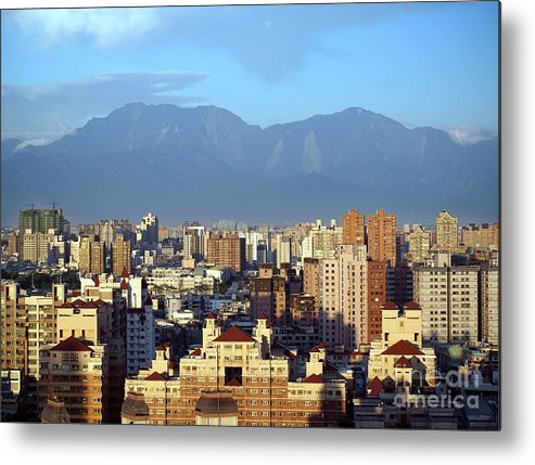 View Metal Print featuring the photograph View Of Kaohsiung City In Taiwan by Yali Shi