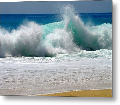 Water Metal Print featuring the photograph Wave by Karon Melillo DeVega