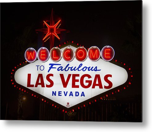 Las Vegas Metal Print featuring the photograph Welcome To Fabulous Las Vegas by Debby Richards