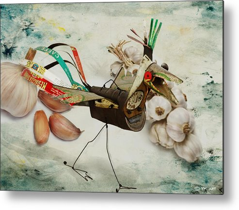 Bird Metal Print featuring the digital art What Nature Delivers - Those Are Not My Eggs by Yvon van der Wijk
