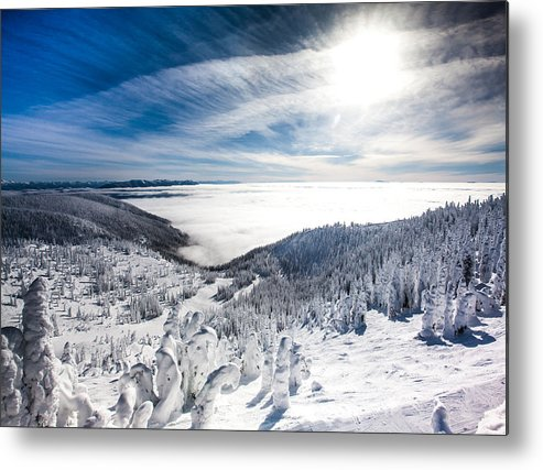 Sun Metal Print featuring the photograph Whitefish Inversion by Aaron Aldrich