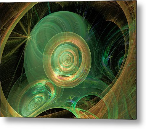 3-d Fractal Metal Print featuring the photograph Worlds Away by Ronda Broatch