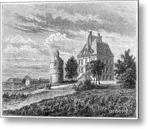 1868 Metal Print featuring the photograph France: Wine Ch�teau, 1868 by Granger