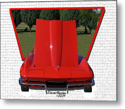 1965 Corvette Metal Print featuring the photograph 1965 Corvette by Ericamaxine Price