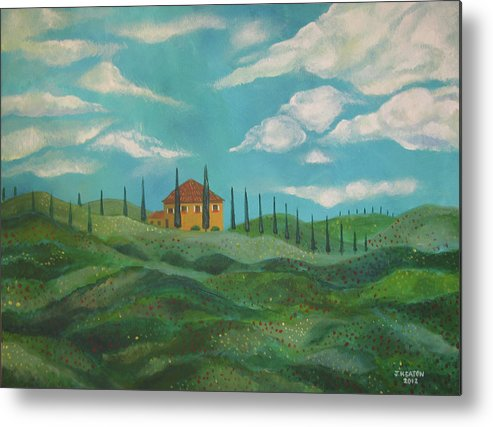 Tuscany Metal Print featuring the painting A Day In Tuscany by John Keaton