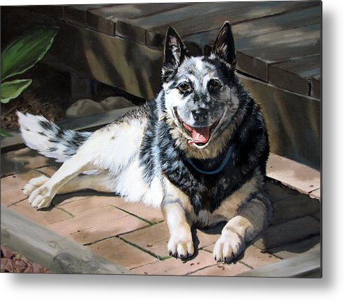 Dog Metal Print featuring the painting A Man's Best Friend by Sandra Chase