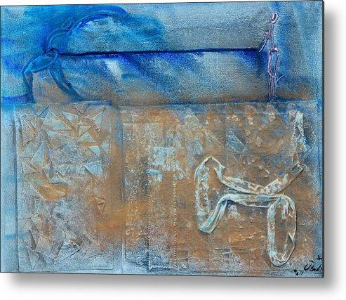 Love Blue Siena Metal Print featuring the painting Atrapado 2 by Jorge Berlato