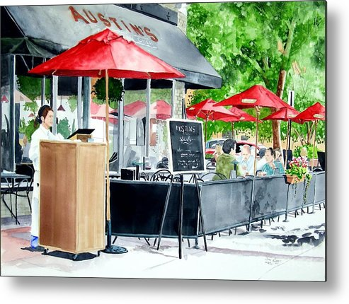 Fort Collins Metal Print featuring the painting Austin's by Tom Riggs
