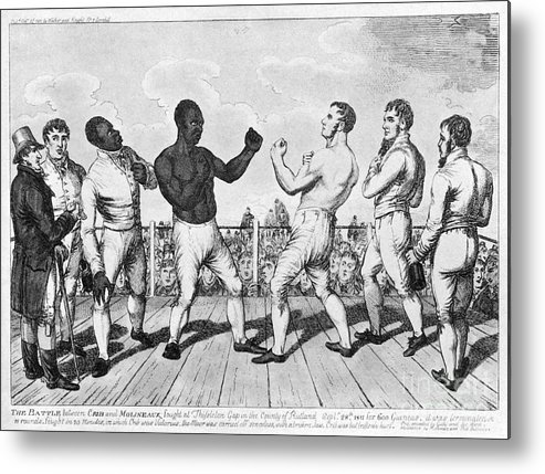1811 Metal Print featuring the photograph Boxing: Cribb V. Molineaux by Granger
