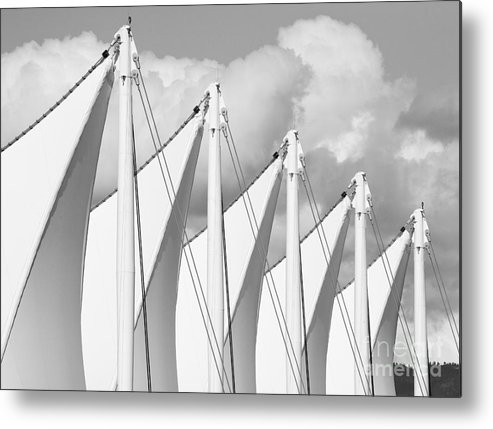 Canada Place Metal Print featuring the photograph Canada Place Sails by Chris Dutton