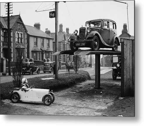 Child Metal Print featuring the photograph Car Envy by Richards