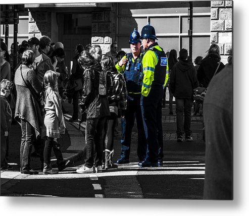 Police Metal Print featuring the photograph Coppers by Paul Howarth