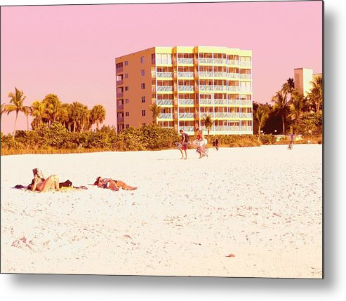 Landscape Metal Print featuring the photograph Dreaming In Pink by Florene Welebny
