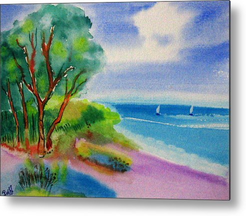 Watercolor Metal Print featuring the painting Feel It by Roland Reiff