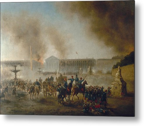 1870 Metal Print featuring the photograph Franco-prussian War, 1870 by Granger