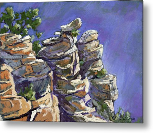 Plein Air Landscape Pastel. Metal Print featuring the pastel Grand Canyon Morning Light by Patricia Rose Ford