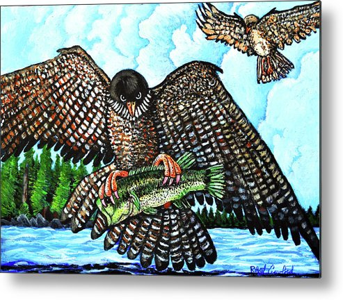 Flacon Metal Print featuring the painting Paragon Falcon by Bob Crawford